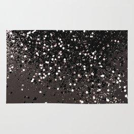 Blush Gray Black Lady Glitter #2 #shiny #decor #art #society6 Rug