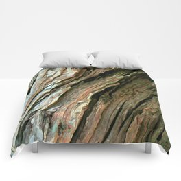 Old Olive tree weathered wood Comforters