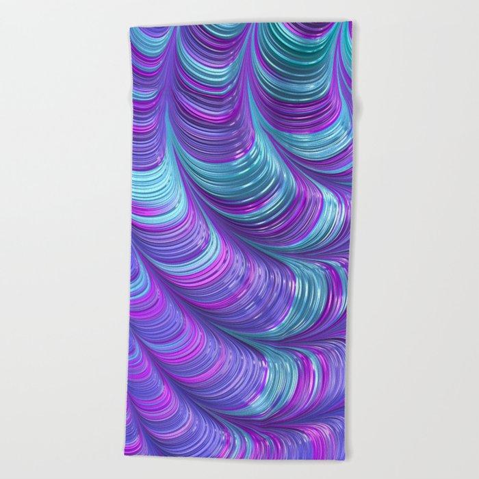 Jewel Tone Abstract Beach Towel