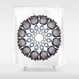 Anime Mandala Shower Curtain