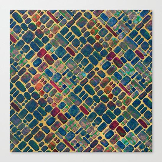 Abstract Tile Mosaic 2 Canvas Print