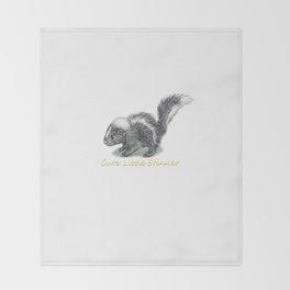 Baby Skunk Throw Blanket