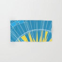 Abstract pattern, digital sunrise illustration Hand & Bath Towel