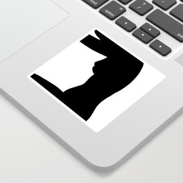 Nude silhouette figure - Nude black 002 Sticker