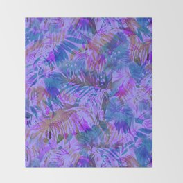 Palmtastic Purple Throw Blanket