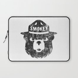 Smokey Bear Distressed Logo Laptop Sleeve