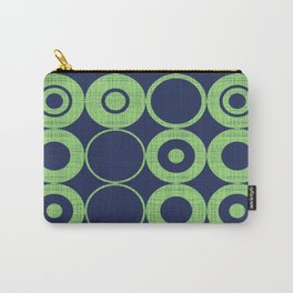 Green Bubbles on blue Carry-All Pouch
