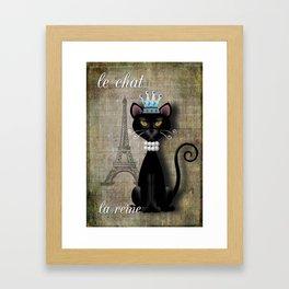 Le Chat, La Reine - The Cat, The Queen Framed Art Print