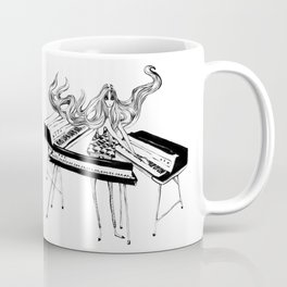 GIRL WITH SYNTHESIZER Coffee Mug