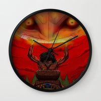 majora Wall Clocks featuring attack on majora! by fangterry