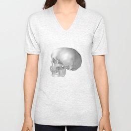 Human Skull Unisex V-Neck