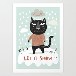 Wintercat Art Print
