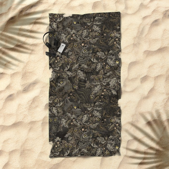 Fit In (autumn night colors) Beach Towel