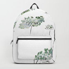abstract queen ann's lace green Backpack