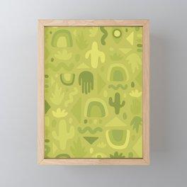 Green Cutout Print Framed Mini Art Print