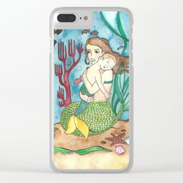 Mer-child & Mer-mother Clear iPhone Case