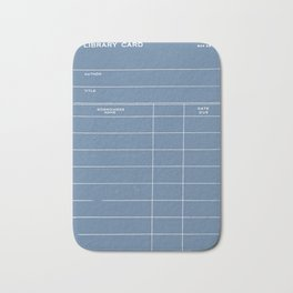 Library Card BSS 28 Negative Blue Bath Mat