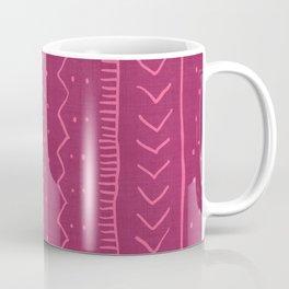Moroccan Stripe in Magenta Coffee Mug