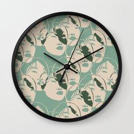 Stencil Faces Wall Clock