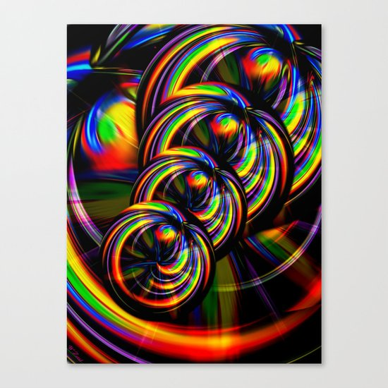 Creations in the color spectrum of the rainbow 3 Canvas Print