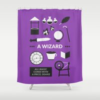 ouat Shower Curtains featuring OUAT - A Wizard by Redel Bautista