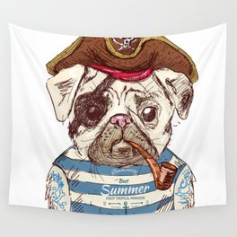 Pirate Dog Wall Tapestry