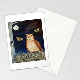 MNO Alphabet Owl Stationery Cards
