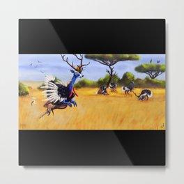ostrich deer Metal Print