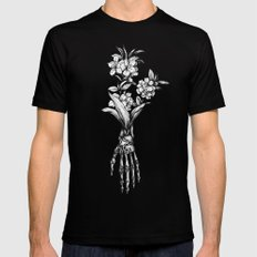 In Bloom #01 Black Mens Fitted Tee LARGE