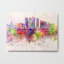 Fort Worth skyline in watercolor background Metal Print