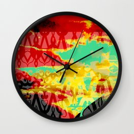 Genie in a Bottle with Turquoise Wall Clock