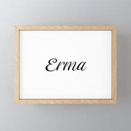 Name Erma Framed Mini Art Print