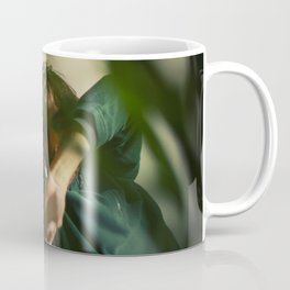 [3] Dancing people, dance, shadows, hands and plants, blurred photography, artistic, forest, yoga Coffee Mug