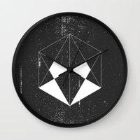 hexagon Wall Clocks featuring Hexagon by eARTh