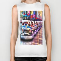 cars Biker Tanks featuring Bumper cars by Simon Ede Photography