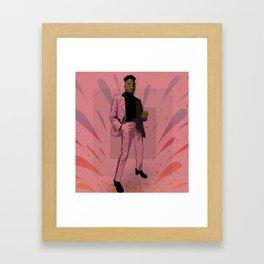 RICKEY THOMPSON Framed Art Print
