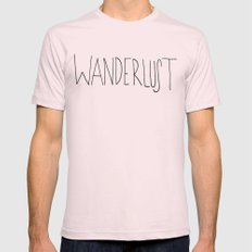 Wanderlust Light Pink 2X-LARGE Mens Fitted Tee