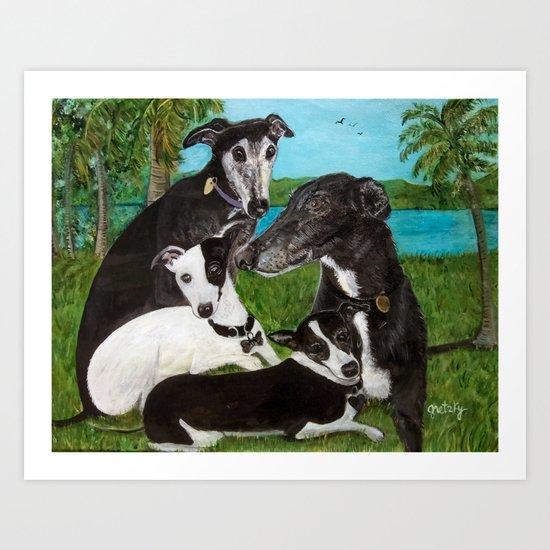 Greyhounds Art Print