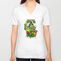 tmnt V-neck T-shirts featuring TMNT by Hisham Al Riyami
