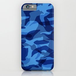 Blue Camouflage Military  iPhone Case