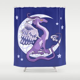 Vendel Dragon - the moon Shower Curtain