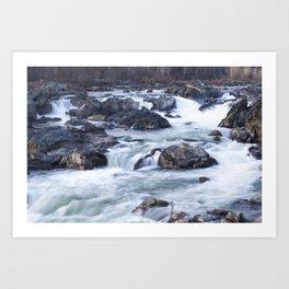 Great Falls in Winter Art Print