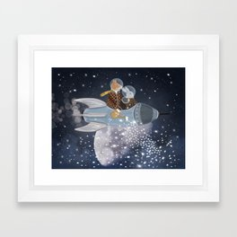 creating stars Framed Art Print