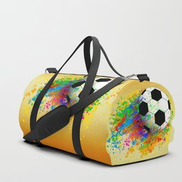 Football soccer sports colorful graphic design Duffle Bag