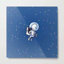 Little Astronaut - Jetpack Metal Print