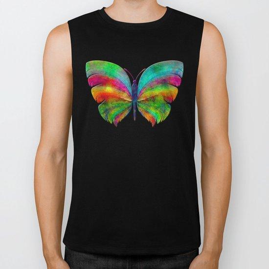 Rainbow Butterfly 2 Biker Tank