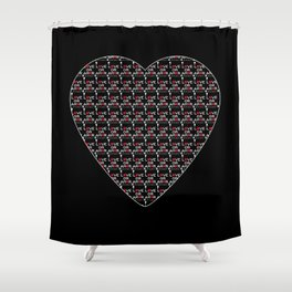 Love or Amor V All Print Over Shirts Shower Curtain