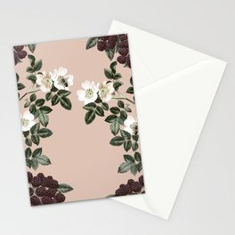 Bee Blackberry Bramble Coral Pink Stationery Cards