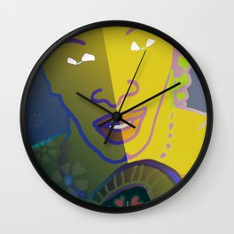 Shaman of the Healing Sounds Wall Clock