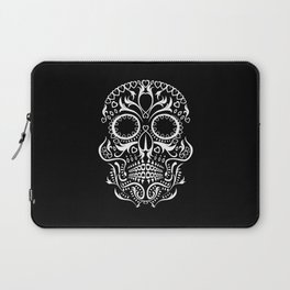 Day of the Dead Skull - Hearts Laptop Sleeve